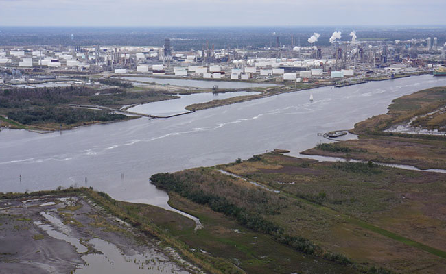 Tetra Tech's design is intended to minimize saline intrusion into wetland surrounding Louisiana's Calcasieu Ship Channel