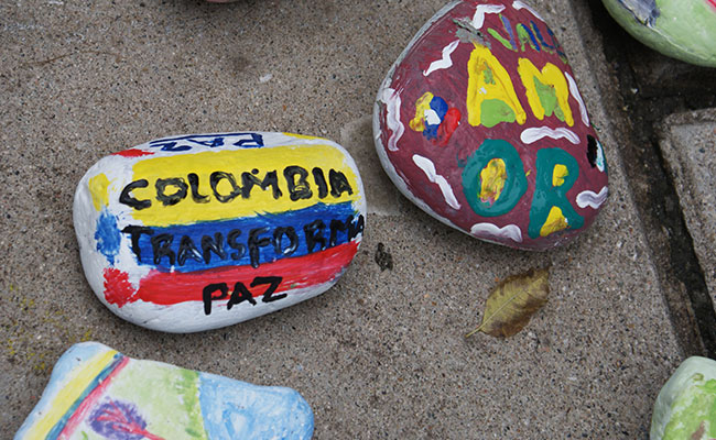 Arts activity to support the Colombian peace process in Putumayo
