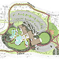 Site plan used to ensure compliance with project requirements for an aquatic center in Oregon