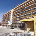 Final stages of exterior finish for Springhill Suites in Houston