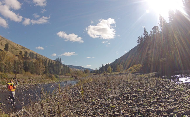 Tetra Tech completed surveys on Meacham Creek in Eastern Oregon.
