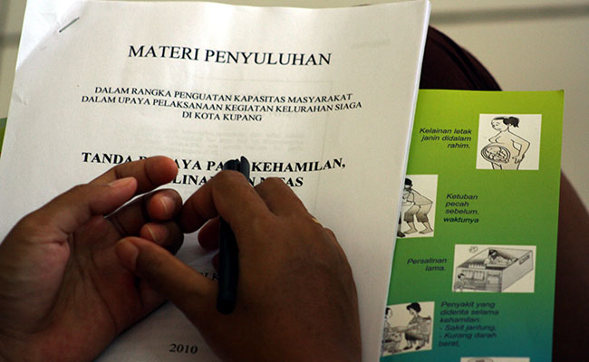 Communications and training materials as part of the Australia Indonesia Partnership for Maternal and Neonatal Health