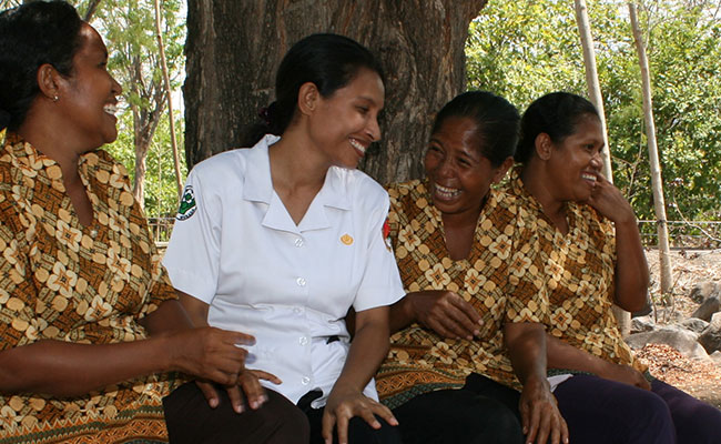 Nurses community outreach as part of the Australia Indonesia Partnership for Maternal and Neonatal Health