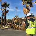 Tetra Tech completing real-time, electronic site documentation prior to entering the hot zone of a commercial property