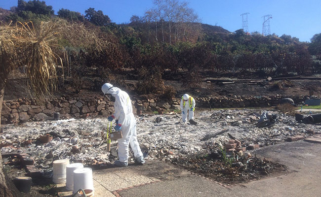 Tetra Tech completing a site assessment monitoring for hazardous materials, including radiation and mercury vapors