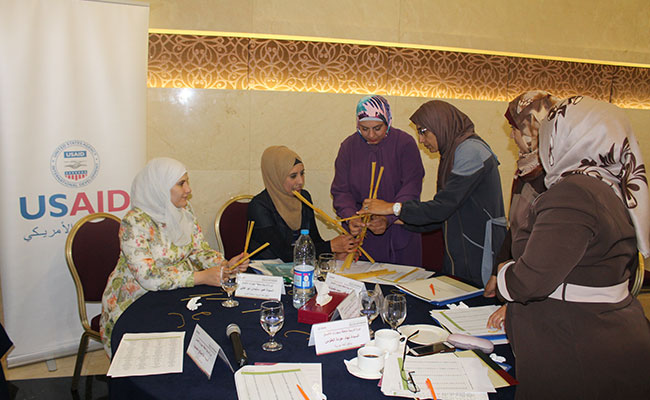 Court technical office clerks participate in training to build communications skills and team work and improve productiv