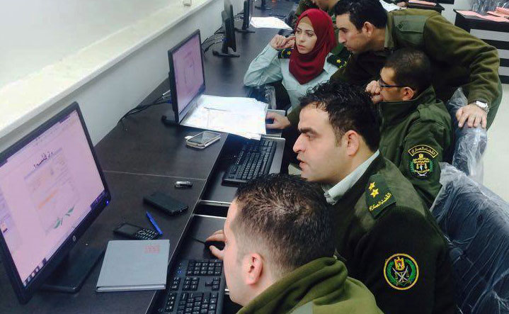 Military Justice Commission staff receiving training on the JSAP-developed Mizan case management system