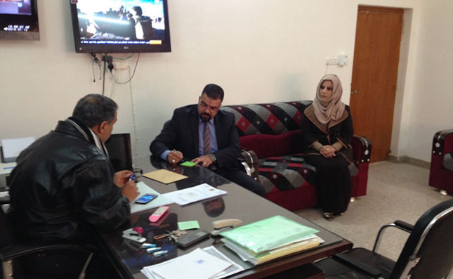 Nablus public prosecutors follow up on backlogged case files with JSAP Coordinator