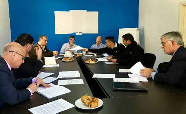 Epsilon-P development team leadership meeting at the JSAP offices