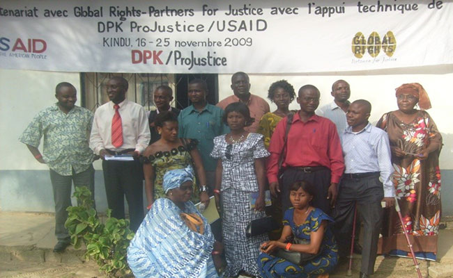 Participants at a ProJustice training on laws against sexual and gender-based violence in Kindu, Maniema Province
