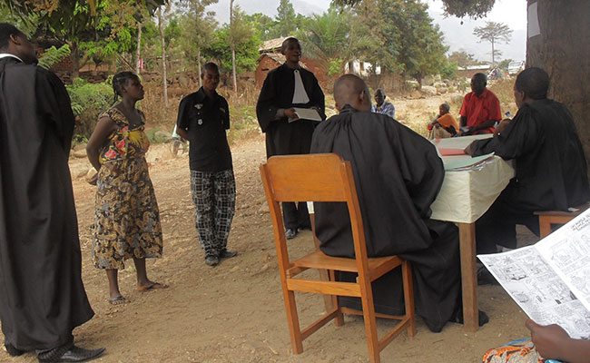 ProJustice supported a mobile court session of the Uvira Peace Court, which heard 13 cases, of which 8 were closed and 5