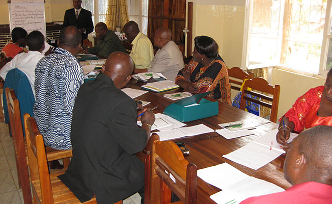 Training session of court magistrates at the ProJustice office in Bukavu, South Kivu