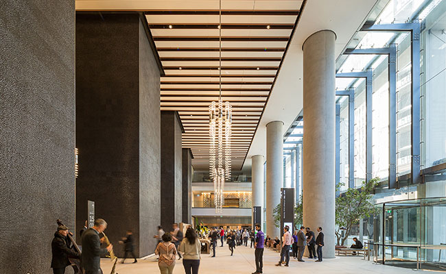 The main entry lobby of Tower 2 of International Towers, Sydney