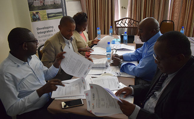 Municipality representatives discuss SUED's call for the proposal application process