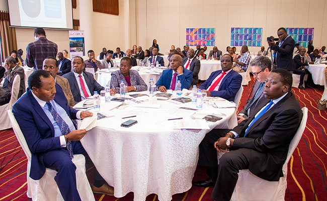 Dignitaries, including the British High Commissioner Nic Hailey; Kenya's Cabinet Secretaries; and governors participate