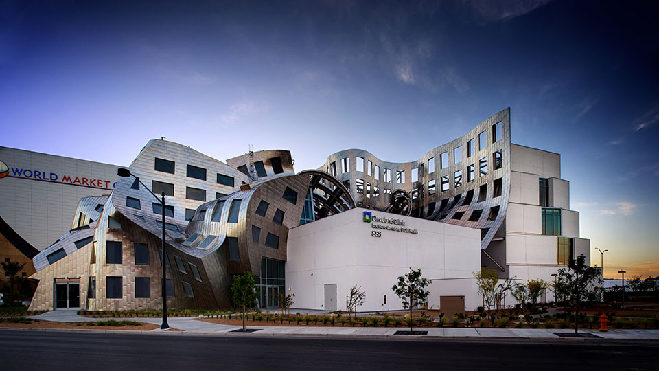 Exterior of the Cleveland Clinic Lou Ruvo Center for Brain Health.
