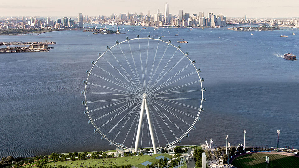 The New York Wheel located at St. George in Staten Island, New York City.