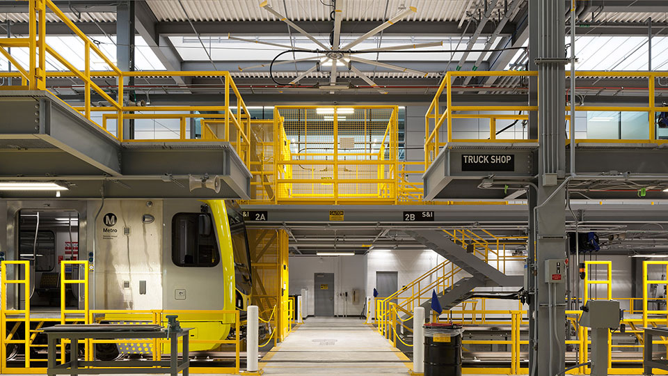 MTA Expo Line Maintenance Facility Truck Shop