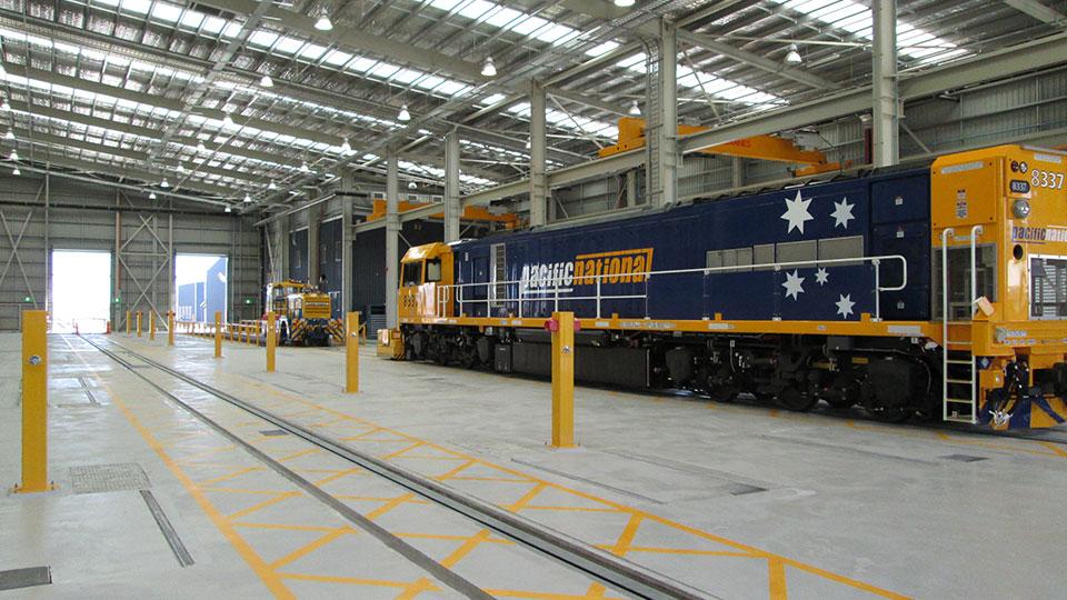NEBO facility train repair bay