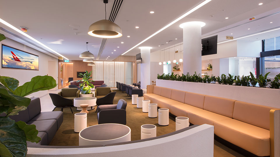 Tetra Tech provided engineering and design services for the Qantas Airline lounge at the Perth Airport.