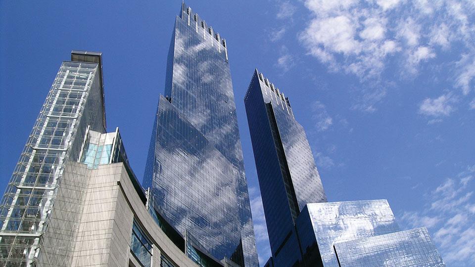 Exterior of Time Warner Center, New York