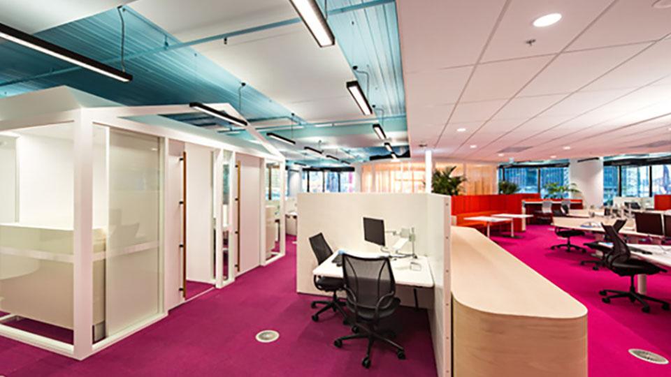 Medibank, Melbourne 720 Bourke work floor