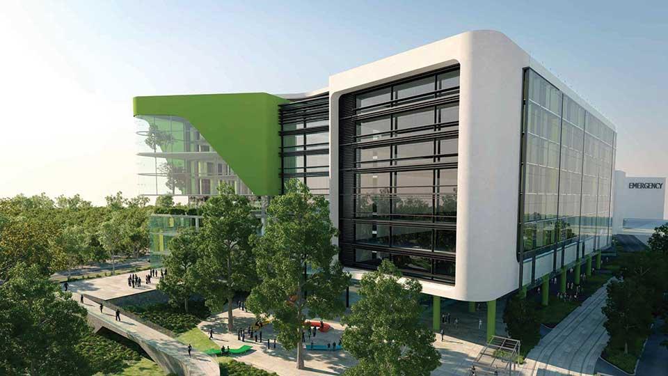 Perth Hospital Render