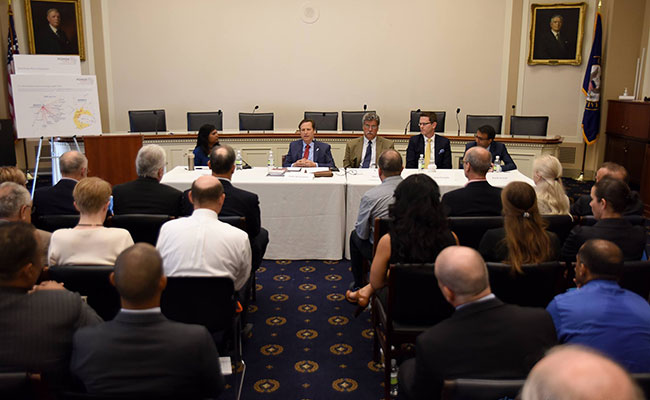 Panelists participate in the Power Africa event at the Rayburn House Building in Washington, DC