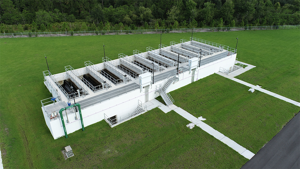Ten new deep bed filters at the Hillsborough County Northwest Regional Water Reclamation Facility in Hillsborough County