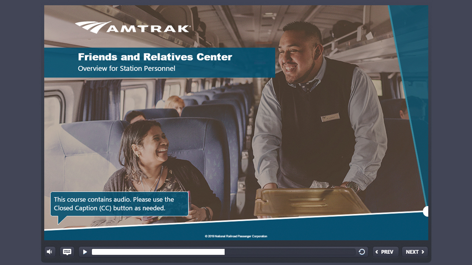 Tetra Tech developed online training for staff employed at the 250 stations across the Amtrak system.
