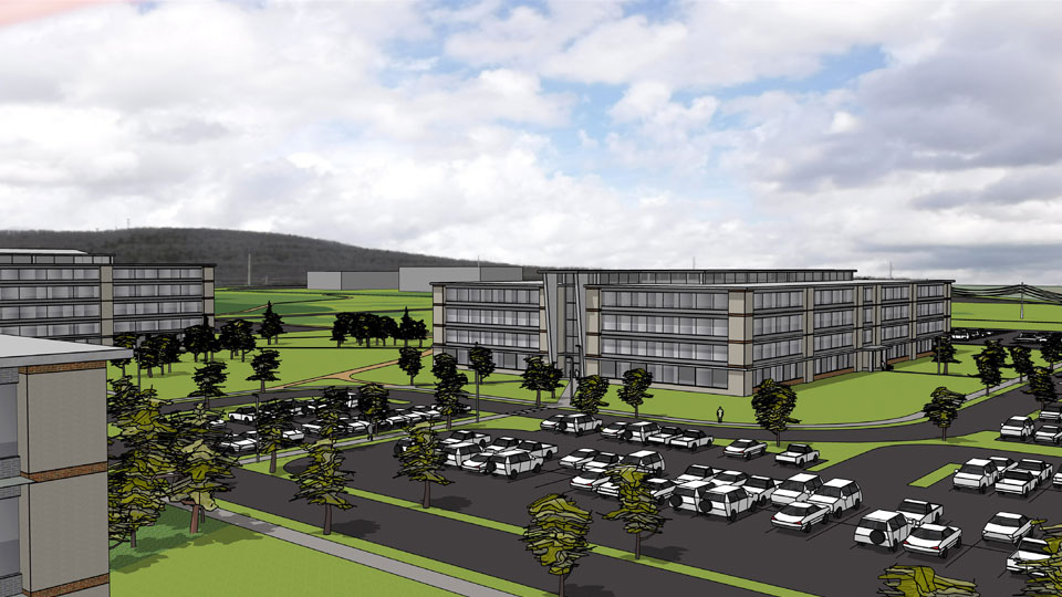 Rendering of the preferred plan at the Redstone Arsenal in Alabama