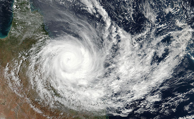 Hurricane from space over Queensland