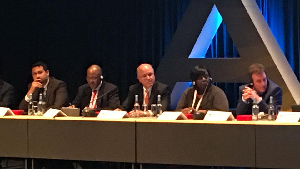 Tetra Tech's Ignacio Rodriguez (third from left) speaks at the 2017 Africa Energy Forum.