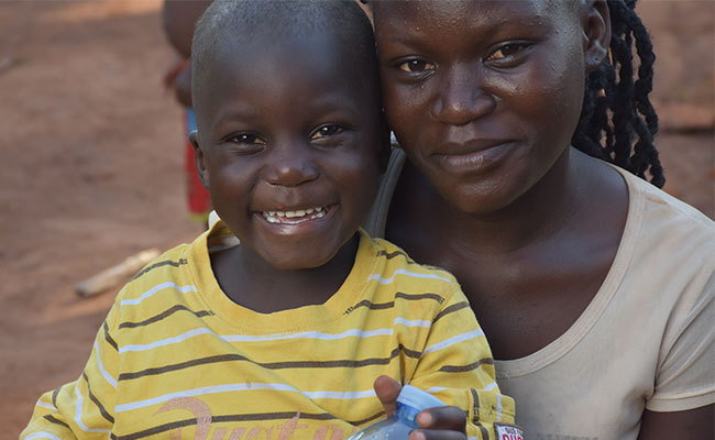 On a beautiful Monday morning, cheerful young Victor made his way to Exodus Nursery School Kayunga Maligita.