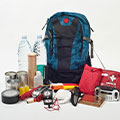 An example of an emergency preparedness backpack.