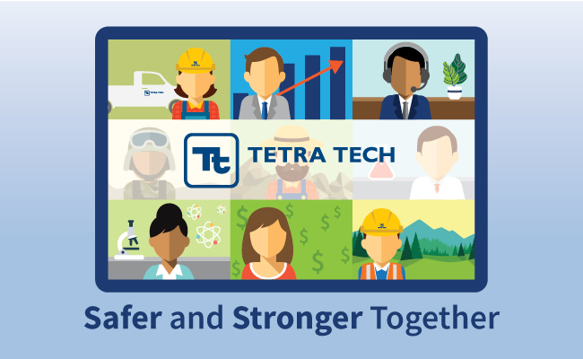 Tetra Tech and our partners, clients, and stakeholders review progress at the East Orange General Hospital COVID-19 conv