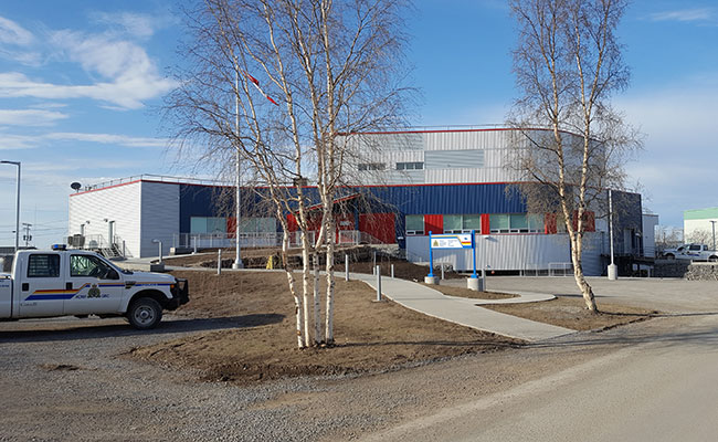 Nehtruh-EBA designed the thermosiphon foundation for the Royal Canadian Mounted Police detachment in Inuvik