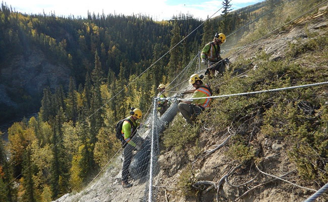 NELPCo slope stabilization project for Yukon Energy