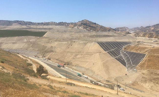 View of landfill capping work done at Sunshine Canyon Landfill by Tetra Tech.