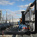 Blower skid and landfill gas conveyance piping at SWACO's Franklin County Sanitary Landfill (FCSL)