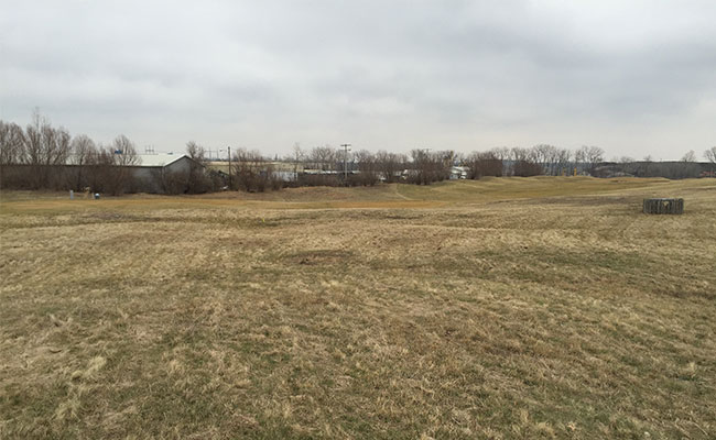 Closed Model Landfill, north end of site looking northeast to the former golf course