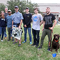 Kevin White, Kellie Burdick, Andres Barros, Dr. Tom Allen, Cameron Kannan, Ethan Revere, Chris Fox, River (dog)