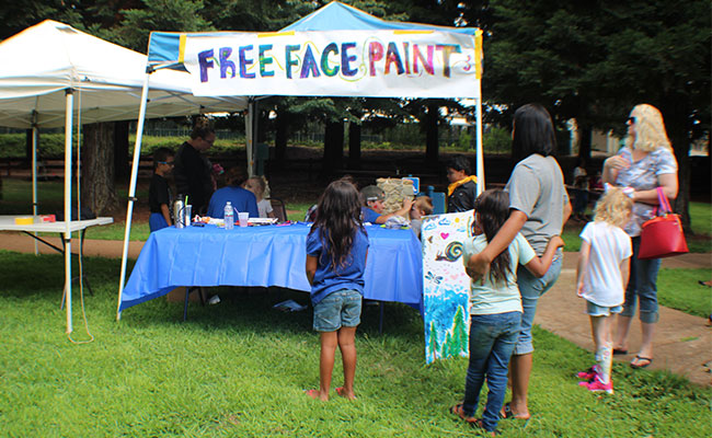 Tetra Tech staff hosted a face painting booth at the event.