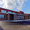 New gymnasium event entry addition exterior at Oriskany Junior Senior High School