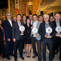 Tetra Tech's Quebec team, along with clients' representatives, accepted the Leonard Awards in Building-Structure, Power,