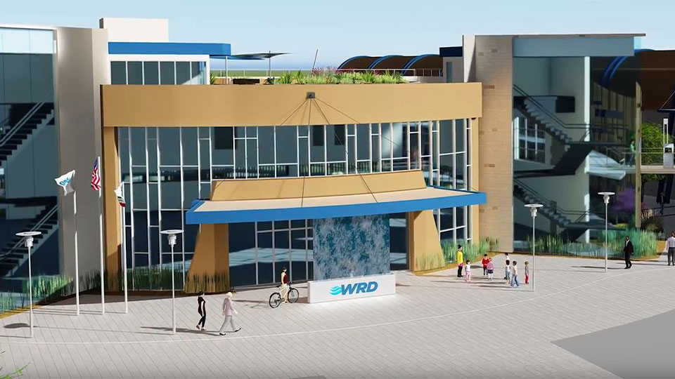Rendering of the Albert Robles Center for in Southern California.