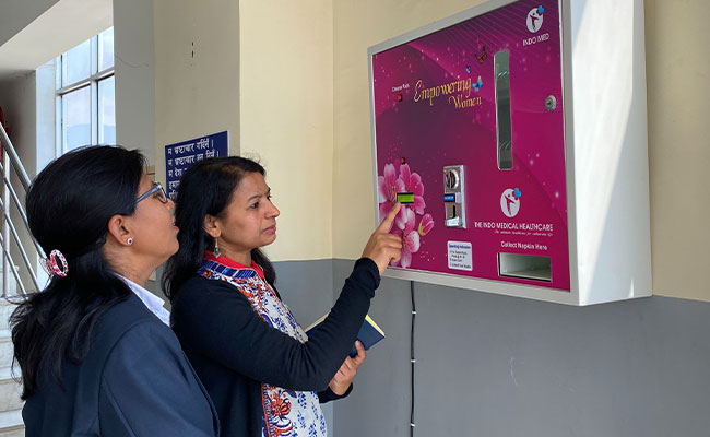 WASHPaLS conducting formative research on menstrual hygiene management in the workplace in Nepal.