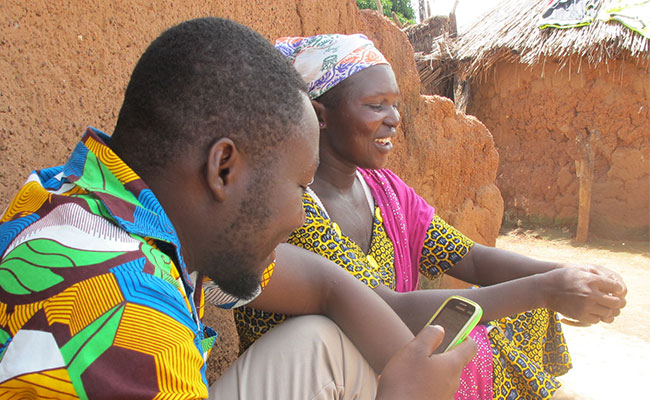WASHPaLS enumerators collect data for the Ghana sanitation subsidy study.